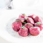 Red Beets and Ricotta Cheese Gnocchi